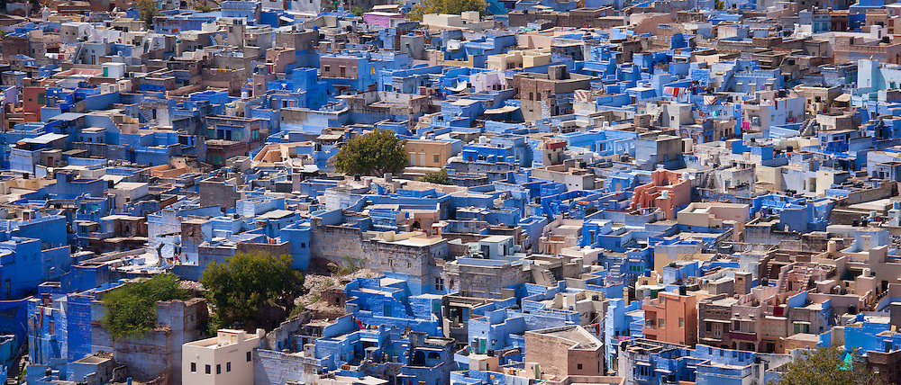 The Brahman Blue City, Brahmpuri area of Jodhpur in Rajasthan, Northern India