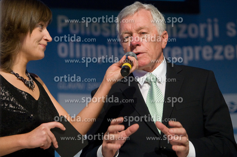 Anja Hlaca and Tone Vogrinec at official presentation of Slovenian Olympic team for Olympic games Vancouver 2010, on January 27, 2010, at Ljubljana's Castle, Slovenia. (Photo by Vid Ponikvar / Sportida)