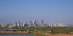 NANNING, CHINA - Tuesday, March 20, 2018: A view of Nanning from the Wanda Realm Resort ahead of the 2018 Gree China Cup International Football Championship. (Pic by David Rawcliffe/Propaganda)