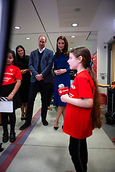 February 28, 2019 - Ballymena, United Kingdom - Image licensed to i-Images Picture Agency. 28/02/2019.  Ballymena, Northern Ireland, United Kingdom. The Duke and Duchess of Cambridge during a visit to Cinemagic at the Braid Centre in Ballymena, on the second day of their trip to Northern Ireland. (Credit Image: © i-Images via ZUMA Press)