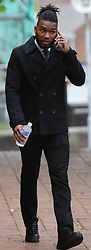 Stockport UK 29.04.2018 Footballer Tyrone Marsh 24 DOB 24.12.93 of 26 Chelford Road Macclesfield SK10 3LG who plays for Macclesfield Town football club.<br /> <br /> Appeared at Stockport Magistrates Court today Monday 30th April  charged with 2 counts of sexual assault on a female who was over 16yrs old.<br /> <br /> The offences were committed in August 2017 Marsh  has continued to play for the club since then and was last seen playing on the 21st April.<br /> <br /> Macclesfield Town Tootball Club have just been promoted to the football league<br /> Credit Should Read  UK News Media
