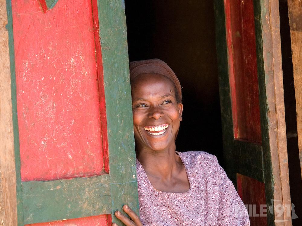 Elfnesh Finta, 35, at her home in Boreda, Ethiopia.