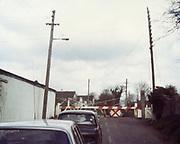 Old Dublin Amature Photos April 1984 WITH, <br /> Smithfield, Blackhall St, Kings Inns, Hill St, Temple St, Sallynoggin, R.C. Buckingham St, Chaplezord, Demolished Cottage Clonsilla, car, level crossing, Austin Cambridge,