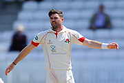 Lancashire's James Anderson during the Specsavers County Champ Div 1 match between Somerset County Cricket Club and Lancashire County Cricket Club at the County Ground, Taunton, United Kingdom on 4 May 2016. Photo by Graham Hunt.