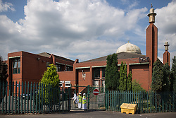 © Licensed to London News Pictures . 07/08/2013 . Manchester , UK . GV General View of the Jamia Masjid Mosque in Cheetham Hill , Manchester today (7th August 2013) as the British Prime Minister , David Cameron , visits the mosque . Photo credit : Joel Goodman/LNP