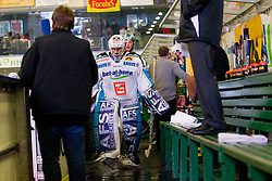 Alex Westlund (EHC Liwest Linz, #32) during ice-hockey match between HDD Tilia Olimpija and EHC Liwest Black Wings Linz at second match in Semifinal  of EBEL league, on March 8, 2012 at Hala Tivoli, Ljubljana, Slovenia. (Photo By Matic Klansek Velej / Sportida)
