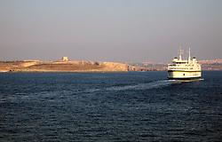 MALTA CIERKAWA 23JUL06 - Gozo Channel Line ferry on its way from Mgarr on Gozo to Cierkawa on Malta...jre/Photo by Jiri Rezac..© Jiri Rezac 2006..Contact: +44 (0) 7050 110 417.Mobile:  +44 (0) 7801 337 683.Office:  +44 (0) 20 8968 9635..Email:   jiri@jirirezac.com.Web:    www.jirirezac.com