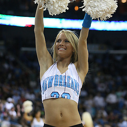 25 February 2009: New Orleans Hornets Honeybee cheerleaders perform during a 90-87 win by the New Orleans Hornets over the Detroit Pistons at the New Orleans Arena in New Orleans, Louisiana.