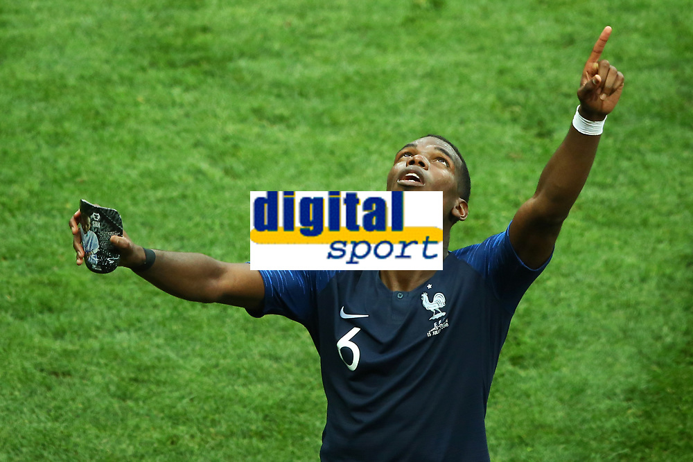 Paul Pogba (France) greeting the family before the award ceremony<br /> Celebration Victory France <br /> Moscow 15-07-2018 Football FIFA World Cup Russia  2018 Final / Finale <br /> France - Croatia / Francia - Croazia <br /> Foto Matteo Ciambelli/Insidefoto