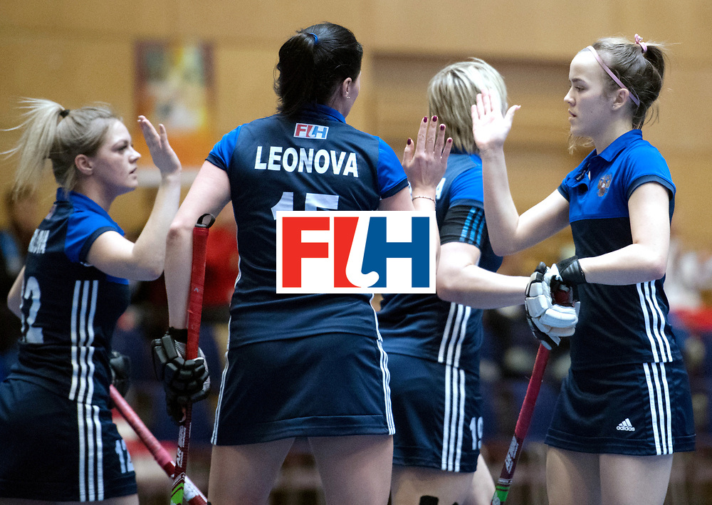 BERLIN - Indoor Hockey World Cup<br /> Kazakhstan - Russia<br /> foto: <br /> WORLDSPORTPICS COPYRIGHT FRANK UIJLENBROEK