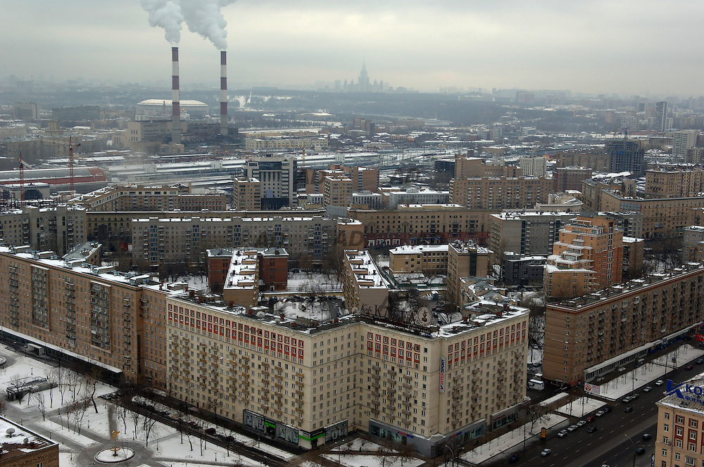*** Local Caption *** Moscow view in Kievskaya area.
