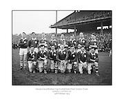 Neg No:.401/5669-5673...14021954IPFCSF1...14.02.1954..Interprovincial Railway Cup Football - Semi-Final..Leinster.3-14 .Ulster.3-6...Leinster. ..J. O'Neill (Wexford), M. O'Brien, P. O'Brien, K. McConnell (Meath), G. O'Reilly (Wicklow), P. Dunne (Laois), A. Murphy (Carlow), J. Rogers (Wicklow), S. White (Louth), J. Reilly (Meath), O. Freaney, C. O'Leary (Dublin), P. Meegan (Meath), J. McDonnell (Louth), K. Heffernan (Dublin). .