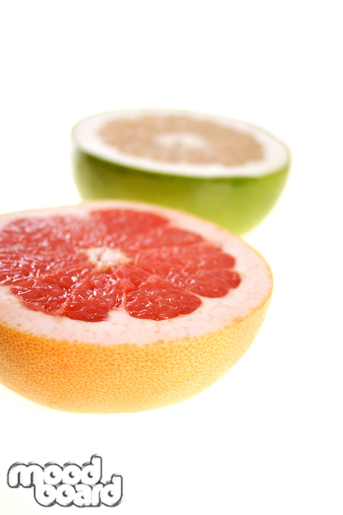 Grapefruits on white background - studio shot