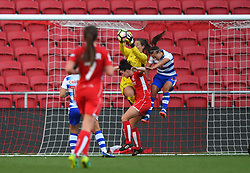 Caitlin Leach of Bristol City Women makes a save  - Mandatory by-line: Paul Knight/JMP - 22/04/2017 - FOOTBALL - Ashton Gate - Bristol, England - Bristol City Women v Reading Women - FA Women's Super League 1 Spring Series