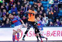 Fotball<br /> Tippeligaen<br /> Ullevål Stadion 01.04.13<br /> Vålerenga VIF - Sogndal<br /> Sidy Sagna i duell med Bojan Zajic<br /> <br /> Foto: Eirik Førde