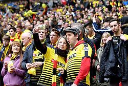Watford fans take a selfie at Wembley - Mandatory by-line: Robbie Stephenson/JMP - 24/04/2016 - FOOTBALL - Wembley Stadium - London, England - Crystal Palace v Watford - The Emirates FA Cup Semi-Final
