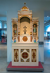 Corpus Christi Altar on display at Museum of European Cultures in Dahlem, Berlin, Germany