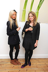Left to right, ELLIE HARRISON-READ and LAURA McLEAN-FERRIS at the inaugural exhibition at the Yvon Lambert London Gallery featuring work ny Mexican born artist Carlos Amorales, 20 Hoxton Square, London N1 on 16th October 2008.