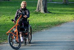 Portrait of Tanja Cerkvenik, ambassador of Wings for Life, on March 31, 2017 in Tivoli, Ljubljana, Slovenia. Photo by Vid Ponikvar / Sportida
