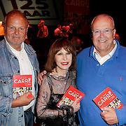 NLD/Amsterdam/20120911- Presentatie DVDbox 125 jaar Carre, Maurice Hermance en broer Gaby Hermans met Liesbeth List