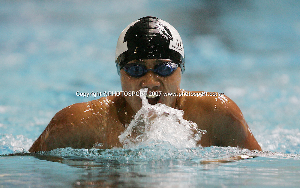 Herman Ang. New Zealand Swimming Spring Competition. Wellington Regional Aquatic Centre, Wellington, New Zealand. Tuesday 25 September 2007. Photo: Hagen Hopkins/PHOTOSPORT