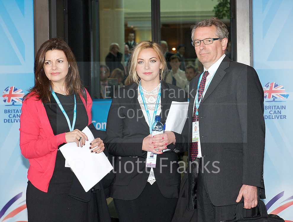 Conservative Party Conference, ICC, Birmingham, Great Britain <br /> Day 3<br /> 9th October 2012 <br /> <br /> Jacqui Hames<br /> Charlotte Church<br /> Brian Cathcart <br /> <br /> Photograph by Elliott Franks<br /> <br /> United Kingdom<br /> Tel 07802 537 220 <br /> elliott@elliottfranks.com<br /> <br /> &copy;2012 Elliott Franks<br /> Agency space rates apply