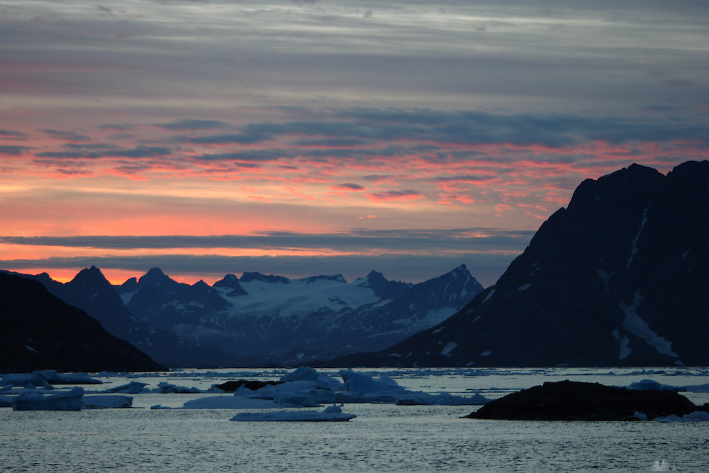 Sunset in Kulusuk, Greenland