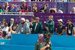 Team Saudi Arabia: Schockemohle Paul (GER), Van Paesschen Stanny (BEL)<br /> Olympic Games London 2012<br /> © Dirk Caremans