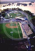 Harrisburg city island, baseball park, Susquehanna River aerial Aerial Photograph Pennsylvania