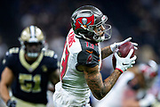 NEW ORLEANS, LA - SEPTEMBER 9:  Mike Evans #13 of the Tampa Bay Buccaneers catches a pass against the New Orleans Saints at Mercedes-Benz Superdome on September 9, 2018 in New Orleans, Louisiana.  The Buccaneers defeated the Saints 48-40.  (Photo by Wesley Hitt/Getty Images) *** Local Caption *** Mike Evans