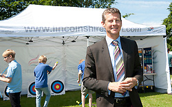 Pictured is Steve Cram in the Sports Zone at the Lincolnshire Showground.<br /> <br /> Steve Cram spent the day at the Lincolnshire Show with Clydesdale Bank and Yorkshire Bank.  He also visited the Sports Zone, at the show, which was organised by Lincolnshire Sport.<br /> <br /> Picture: Chris Vaughan/Chris Vaughan Photography<br /> Date: Wednesday, June 24, 2015