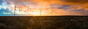 Panoramic of horizon at the Sere Wind Farm. Located on the West Coast in South Africa.