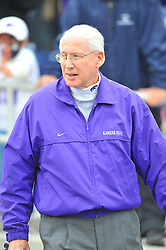 Nov 14, 2009; Manhattan, KS, USA; Kansas State head coach Bill Snyder waits for the team before the game agains the Missouri Tigers at Bill Snyder Family Stadium. Mandatory Credit: Denny Medley-US PRESSWIRE