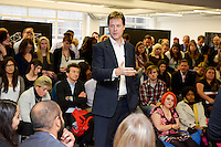 Deputy Prime Minister Nick Clegg officially launched Wayra UnLtd the new Academy in London that supports social enterprise businesses  <br /> <br /> DESCRIPTION WRITER:<br /> <br /> Sasha Mattus on 07515 754 550<br /> <br /> Picture date: 14th October 2013.<br /> <br /> Photo credit should read: Casey Gutteridge<br /> <br /> For more info call Sasha Mattus on 07515 754 550