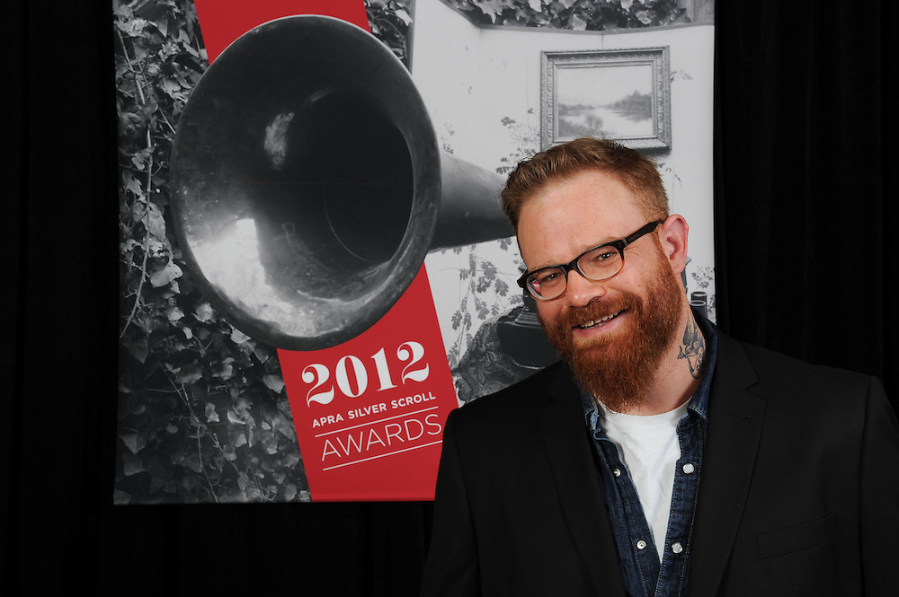 Adam McGrath, finalist at the APRA Silver Scrolls Awards 2012. Auckland Town Hall. 13 September 2012.