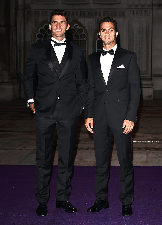 Men's Doubles Champions Jean Julien Rojer and Horia Tecau attend the 2015  Wimbledon Champions Dinner at The Guildhall, Gresham Street, London on Sunday 12 July 2015
