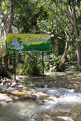 Sign at the top of Dunn's River Falls, Ocho Rios, St. Ann, Jamaica