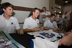 27 May 2007: Duke Blue Devils defenseman Casey Carroll (37) signs autographs at M&T Bank Stadium in Baltimore, MD.