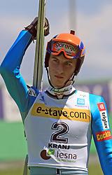 Rok Mandl of Slovenia at FIS Continental cup Ski-jumping Summer Kranj, on July 6, 2008, Kranj, Slovenia. (Photo by Vid Ponikvar / Sportal Images)<br /> <br /> / Sportida)