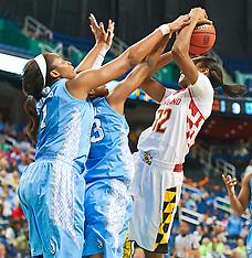 2014 ACC Women's Tourney Maryland vs UNC