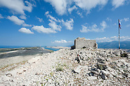 Ruined church on the summit of Sv Vid, the highest point on the island of Pag, Croatia (23 June 2013)