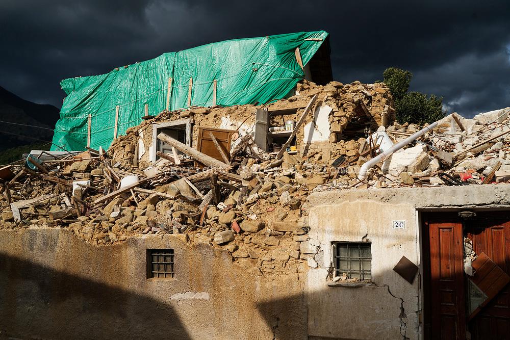 Voceto, Italia - Abitazioni distrutte dal terremoto nel pesino di Voceto.<br /> Ph. Roberto Salomone