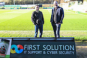 First Solution ad board during the EFL Sky Bet League 2 match between Forest Green Rovers and Salford City at the New Lawn, Forest Green, United Kingdom on 18 January 2020.