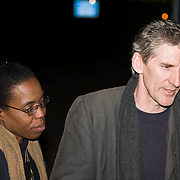 London Feb 23  Human rights Lawyer Clive Stafford Smith and  Air Force Lieutenant Colonel Yvonne Bradley (Military lawyer) at  RAF Northolt when  ex Guantanamo Bay detainee Binyam Mohamed arrives at RAF Northolt in Morth West London and after being questioned under the Terrorism Act walks free after more than 4 years...***Standard Licence  Fee's Apply To All Image Use***.Marco Secchi /Xianpix. tel +44 (0) 845 050 6211. e-mail ms@msecchi.com or sales@xianpix.com.www.marcosecchi.com