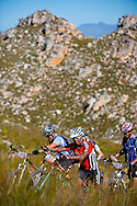 VILLIERSDORP, SOUTH AFRICA - breyton Paulse is forced to portage his bike during stage 3 of the Absa Cape Epic Mountain Bike Stage Race held between Villiersdorp and Greyton on the 24 March 2009 in the Western Cape, South Africa..Photo by Karin Schermbrucker /SPORTZPICS