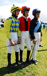 3 young Jockey's who were in action at the Doolough Races in Geesala on sunday, Joe Doyle, Conor Orr and Jordan Benson...Pic Conor McKeown