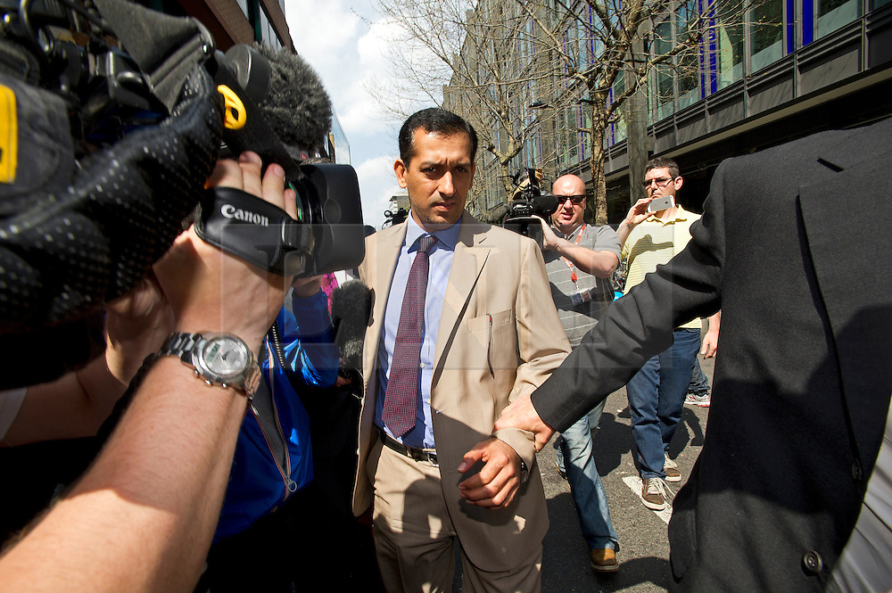 © London News Pictures. 25/04/2013. London, UK. Godolphin trainer Mahmood Al Zarooni arriving at the offices of the British Horseracing Authority in London where he is due to stand before a disciplinary panel after samples taken from 11 of his horses were found to have contained traces of anabolic steroids. Photo credit: Ben Cawthra/LNP.