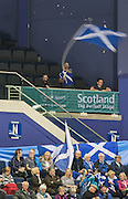 "Glasgow. SCOTLAND.  Home support at the Women's Semi Final"" Game. Scotland vs Russia. Le Gruyère European Curling Championships. 2016 Venue, Braehead  Scotland.<br /> <br /> Friday  25/11/2016<br /> <br /> [Mandatory Credit; Peter Spurrier/Intersport-images]"