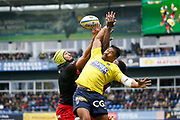 Virgile Bruni to LOU during the French championship Top 14 Rugby Union match between ASM Clermont and Lyon OU on November 18, 2017 at Marcel Michelin stadium in Clermont-Ferrand, France - Photo Romain Biard / Isports / ProSportsImages / DPPI