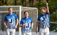 FODBOLD: Casper Porsgaard (Hornbæk IF) jubler efter 2-0 under finalen i Seriepokalen mellem Hornbæk IF og Ballerup Boldklub den 20. maj 2019 på Brøndby Stadion. Foto: Claus Birch.